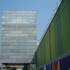 MARIANItech - Facade cladding with Chelsea expanded metal, Turin (Italy)