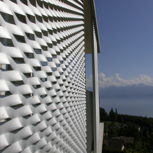 MARIANItech - Facade cladding with Maracana expanded metal, Belmont (Switzerland)