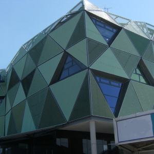 MARIANItech - Head Cricket facade with Flaminio expanded metal, Leeds (England)