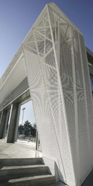 MARIANItech - Facade cladding with Copacabana expanded metal, Perugia (Italy)
